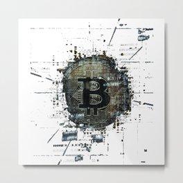 Bitcoin Coin Shirt Present Krypto Money Corrupt Moneys Metal Print