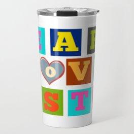 Learn, love, listen Travel Mug