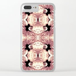 Shiny Old Rose Flower Design, Pattern Clear iPhone Case