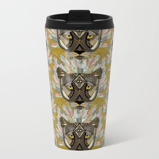 native mountain lion gold Metal Travel Mug