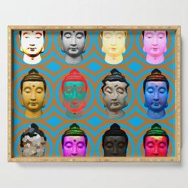 Buddha Heads Serving Tray