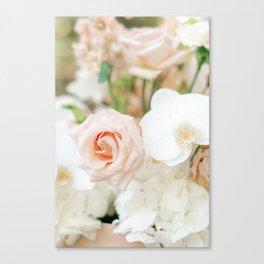 Blush Roses   Pastel Color Bouquet   Fine Art Photographer Print Canvas Print