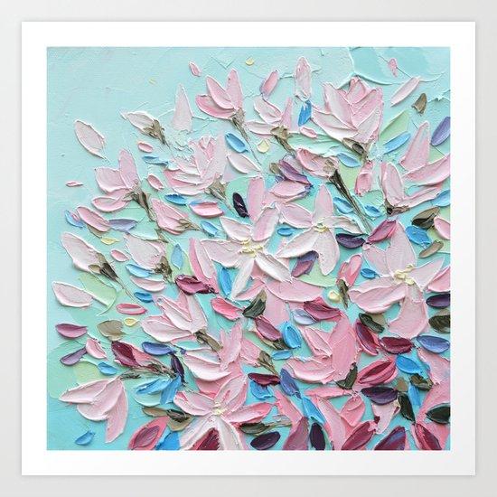 District  Blooms Art Print