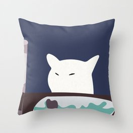 Smudge The Cat Meme Throw Pillow