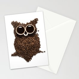Coffee Owl Stationery Cards