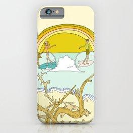 pura vida family costa rica surf paradise // retro art by surfy birdy iPhone Case