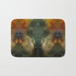 """""""The Inner Forest (caramel pattern)"""" Bath Mat"""
