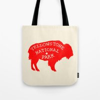 the national Tote Bags featuring Yellowstone National Park  by Terry Fan