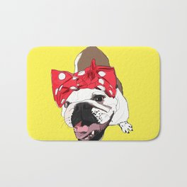 She Persisted.  Rosie the Bulldog Bath Mat
