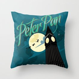 Peter Pan by J.M. Barrie Throw Pillow