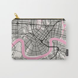 New Orleans - Louisiana Neapolitan City Map Carry-All Pouch