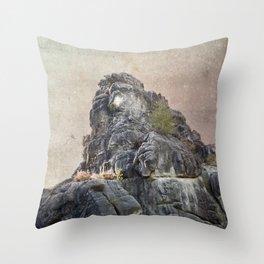 Externsteine top of the rock Throw Pillow