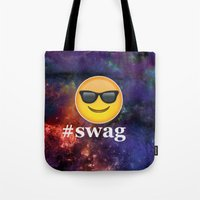 swag Tote Bags featuring #Swag by pbstudios
