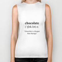 chocolate Biker Tanks featuring Chocolate by cafelab