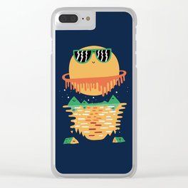 Happy Exploring Clear iPhone Case