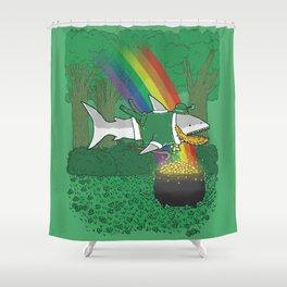 The Lucky Shark Shower Curtain