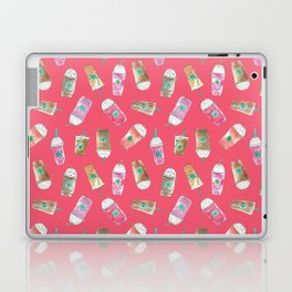 Coffee Crazy Toss in Coral Laptop & iPad Skin