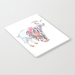 goat with flower crown Notebook