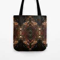 battlestar galactica Tote Bags featuring Galactica by Robin Curtiss