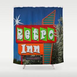 Retro Inn Shower Curtain