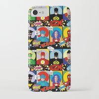 superheroes iPhone & iPod Cases featuring Superheroes by Chicca Besso