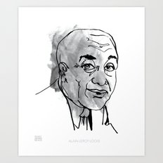MAP: Alain Leroy Locke Art Print