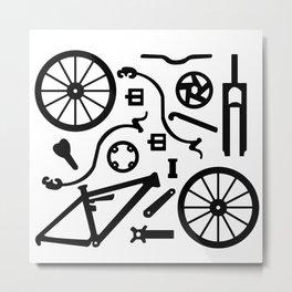 Bike Parts Full Suspension Metal Print