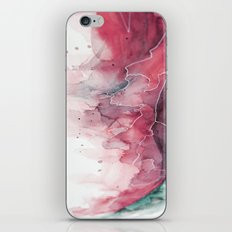 Watercolor pink & green, abstract texture iPhone Skin