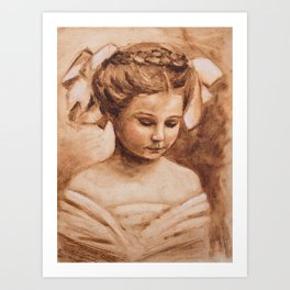 girl with the braid Art Print
