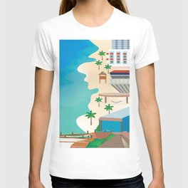 Cancun, Mexico - Skyline Illustration by Loose Petals T-shirt