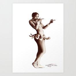 Josephine Baker - Créole Goddess Art Print