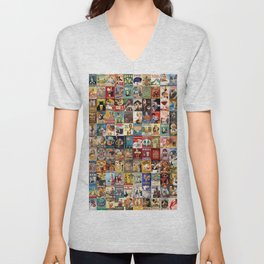 Vintage Beer Ads Unisex V-Neck