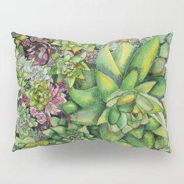 Watercolour Succulents Pillow Sham