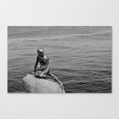 Little Mermaid, Copenhagen, Denmark. Canvas Print