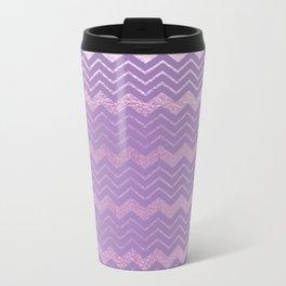 Modern lavender lilac geometrical chevron motif Travel Mug
