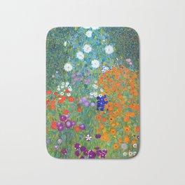 Gustav Klimt Flower Garden Badematte