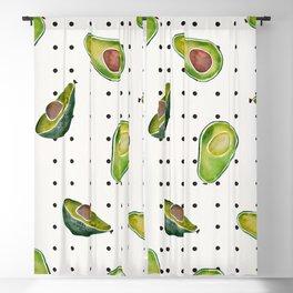 Avocado Polka Dots Blackout Curtain