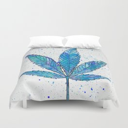 Canna Be Blue Duvet Cover