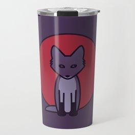 Purple Fox - Kitsune Visits Japan Travel Mug