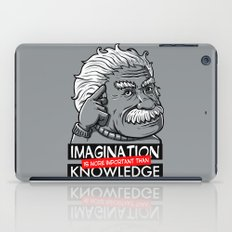 Imagination is more important than knowledge iPad Case