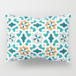 Geometric Pattern, oriental style (blue color set)  traditional morocco tile pattern Pillow Sham