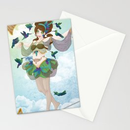 Pin'up et colibris Stationery Cards