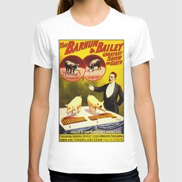 Vintage Circus Poster - Trained Pigs T-shirt