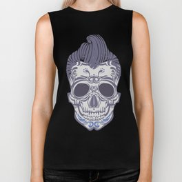 Skull of the sixties Biker Tank