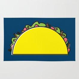 omg tacos! on navy Rug