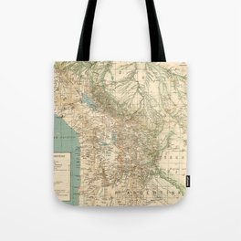 Vintage Map of Bolivia (1905) Tote Bag