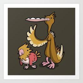 Pokémon - Number 21 & 22 Art Print