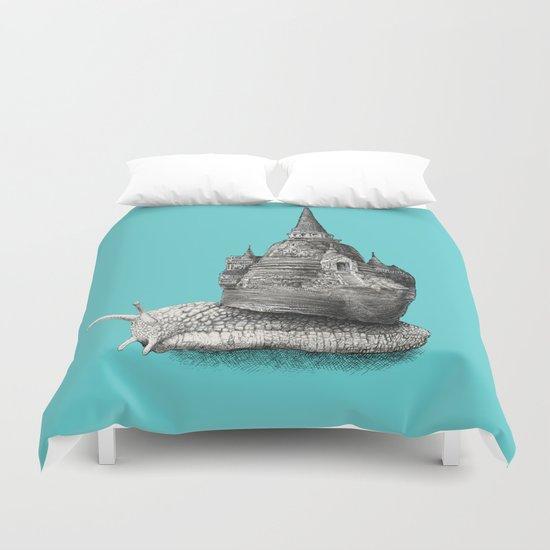 The Snail's Dream (monochrome option) Duvet Cover