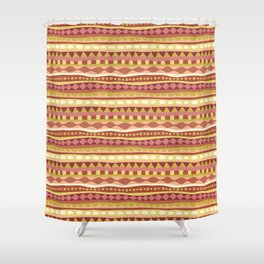 Stripey-Canyon Colors Shower Curtain