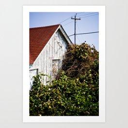 Orange Barn Art Print